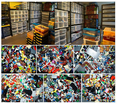 100% Genuine LEGO 5 LB pounds Bulk Lot w/ MINIFIGURES! Tires, Windows, Star Wars