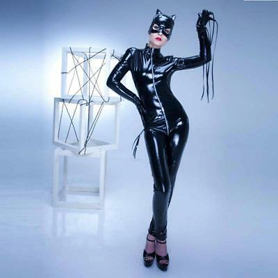 Women Jumpsuits Pvc Latex Wet Look Body Con Sexy Designs Faux Leather Cat Woman