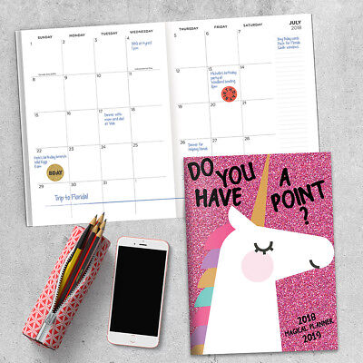 July 2018 - June 2019  Unicorns: Your Point. Monthly Planner