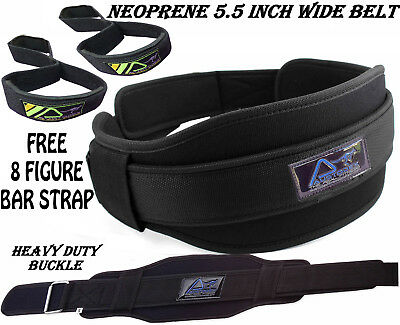 Weight Lifting BodyBuilding Fitness Gym Neoprene Wide Double Back Support Belt