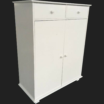 Shoe Cabinet White Wooden Furniture Storage Cupboard Rack Unit Organiser Drawers