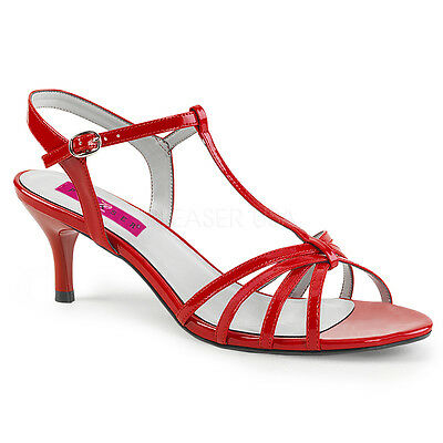 Red Sandals Low Heels Tranny Drag Mens Crossdresser Shoes Womans size 14 15 16