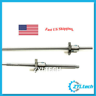 ZYLtech Precision (TRUE C7) 12mm 1204 Antibacklash Ball Screw w/ Ballnut - 400mm