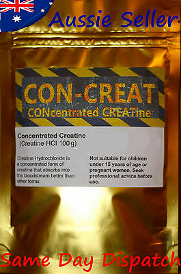 CONcentrated CREATine HCL 50 grams - CONCRET hydrochloride