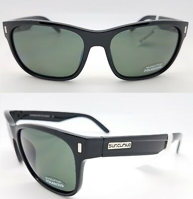 8f545f4995 NEW Suncloud sunglasses Dashboard Black w  Grey Polarized Medium Fit shiny  black