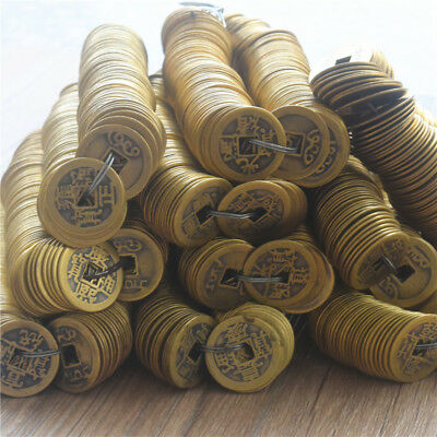 Lot Copy Ancient Emperors Copper Coins Crafts Chinese Knot Accs 24mm