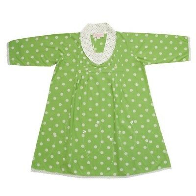 WHOLESALE X 2 Powell Craft Nightdresses 100% Cotton Green & White 1-2 Years
