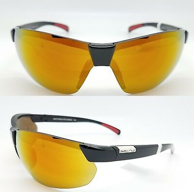 c0a546040f0 NEW Suncloud sunglasses Switchback Black Red Mirror Polarized Unisex Large  Fit