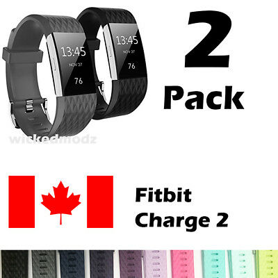 For Fitbit Charge 2 Band Replacement Wrist Strap Silicone Smart Watch Band S-L