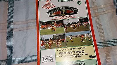 Doncaster Rovers v Whitby Town 1986/87 FA Cup