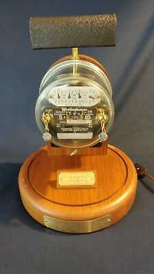Antique Electric Meter lamp circa 1920 - Functioning, Excellent Condition