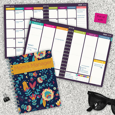July 2018 - June 2019  Mom's Manager Medium Weekly Monthly Planner