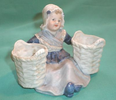 Gebr. Heubach, figure of a dutch girl with two basket /bisque/ Germany