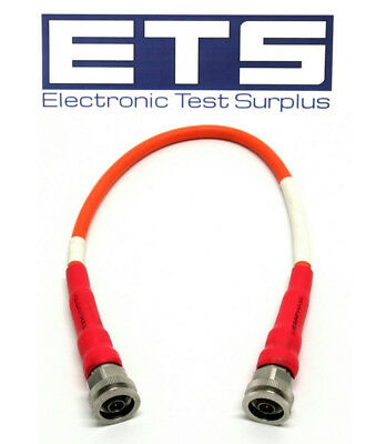 "Anritsu 3-806-151 / Megaphase 10146-1 4Ghz 18"" Type N Male Coax Coaxial Cable"