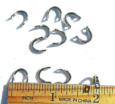 50ct Nickel #6 Spinnerbait CLEVISES for hanging blades on wire frames, Clevis