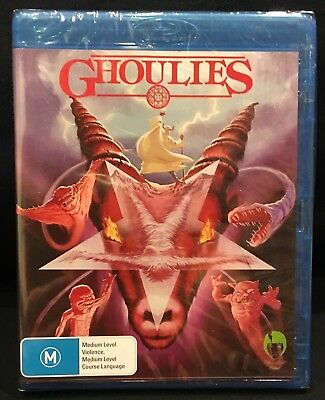 GHOULIES 1985 Blu-Ray (Glass Doll Films 2016 Region B) BRAND NEW FACTORY SEALED!