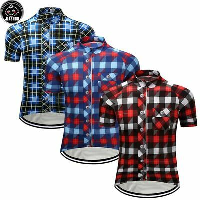 FLANNEL PLAID RETRO Cycling BIKE Jersey Shirt Tricot Maillot 4ecfdaeec
