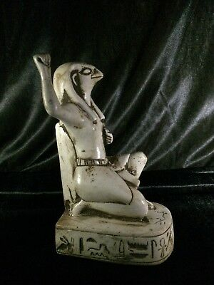 EGYPTIAN GODDESS PHARAOHS ANTIQUITIES King Horus Egypt Rare Statue Stone 300 Bc