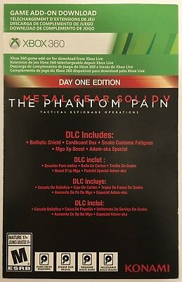 METAL GEAR SOLID V (Five) Phantom Pain Day One DLC Add-On for Xbox