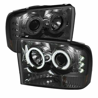 Spyder Ford Super Duty 99-04 / Ford Excursion 00-04 Projector Headlights- Smoke