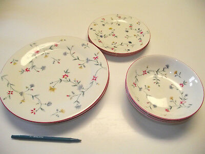 11pc 3ppl Dinner & Salad Plate Cereal Bowl  Royal Doulton AVALON Expressions