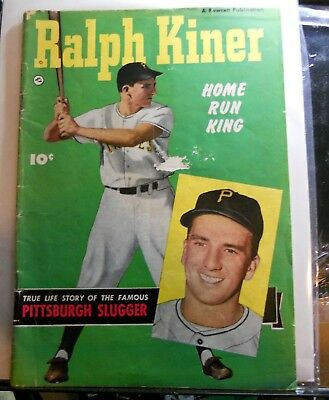 Ralph Kiner, Home Run King Comic Book Photo Cover Fawcett 1950