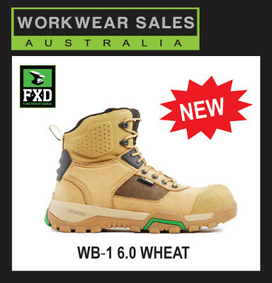 FXD BOOTS WB1 6 Inch Safety Composite Toe Black Wheat Stone Workboots FXDBOOTS