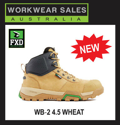 FXD BOOTS WB2 4.5 Inch Safety Composite Toe Black Wheat Stone Workboots FXDBOOTS