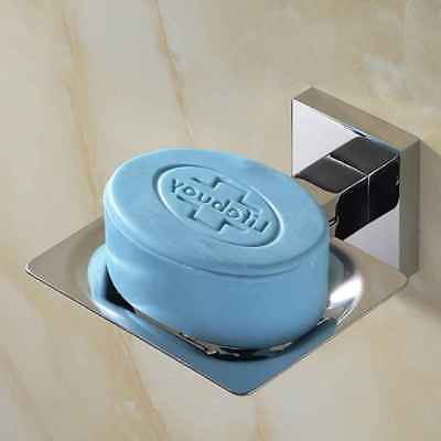 Single Layer Mental Soap Dish Sacer Soap Tray Holder Stainless Steel Dispenser