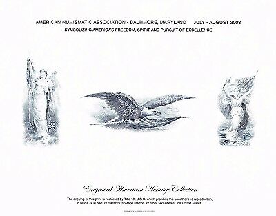 BEP Souvenir Card B268 ANA 2003 Baltimore Flag Peace Eagle Intaglio Mint