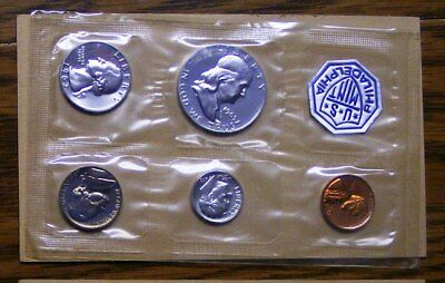 1963 US Silver Proof Coin Set with Original U.S. Mint Envelope 1963 BU Franklin