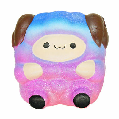 Jumbo Sheep Squishy Cute Galaxy Rainbow Alpaca Super Slow Rising Scented Toy S4