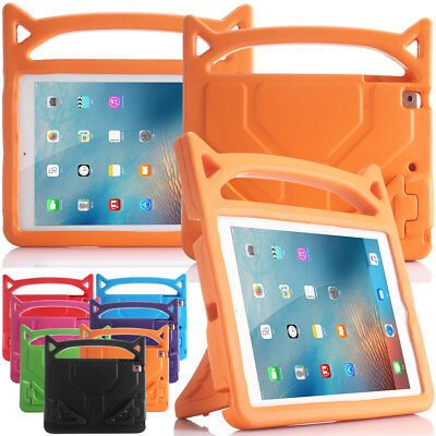 For iPad 9.7 2018 6th Gen Kids Safe Shockproof Tough Handle Stand Case Cover