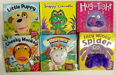 Little Learners Five Little Monkeys Finger Puppet Book, For Children Age 2+ year