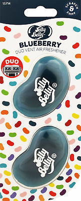 Jelly Belly DUO Vent Two Pack BLUEBERRY Jelly Bean 3D Car Air Freshener NEW!