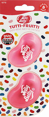 Jelly Belly DUO Vent Two Pack TUTTI FRUITTI Jelly Bean 3D Car Air Freshener NEW!