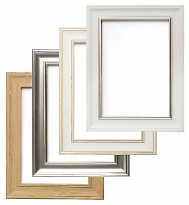 Shabby Chic Photo Frame Picture Poster Frames White Oak Silver A1
