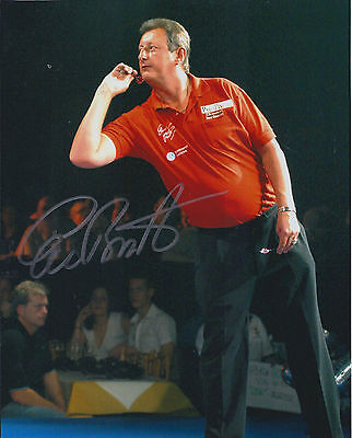 Eric Bristow HAND SIGNED Autograph Darts Legend 10x8 Photo AFTAL Crafty Cockney
