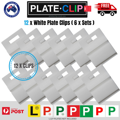 12 x White L & P Plate Holders for Number Plates | FREE Postage!