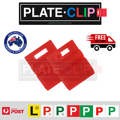 2 x Red L & P Plate Holders for Number Plates | FREE Postage
