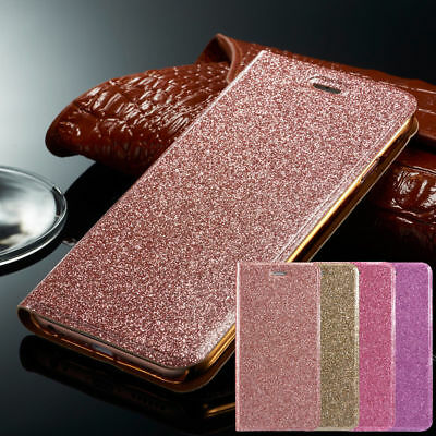 Luxury Magnetic Bling Glitter PU Leather Flip Case Wallet Cover For Samsung S8 +