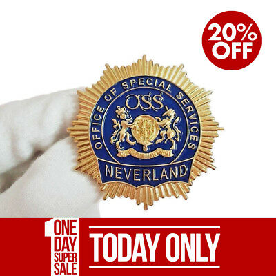 SALE - Michael Jackson Neverland Valley Ranch Gold OSS Security Badge 1994
