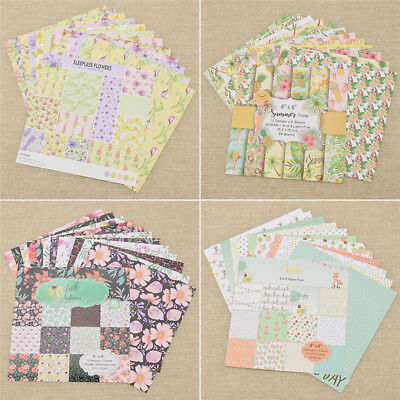 24x Lovely Scrapbooking Paper Origami Art Background Paper Card Making Supplies