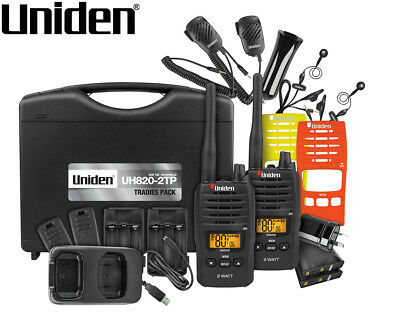 Uniden UH820S-2TP 80-Channel UHF Handheld Tradies Pack