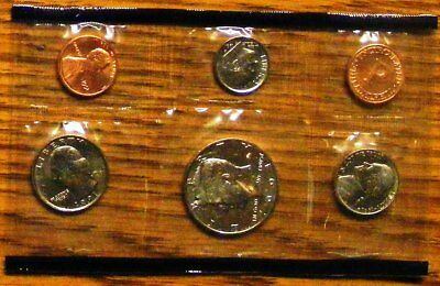 1991 Mint Set Original Envelope 10 US Coins 1991 Kennedy Half Dollar