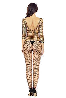 Catsuit bodystocking donna nero sexyshop intimo lingerie completino TU 79948