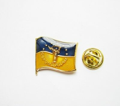 Ukraine Ukrainian National Country Flag Lapel Pin Metal Enamel Evroimaydan