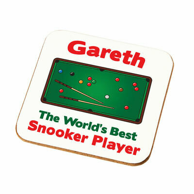 Personalised Worlds Best Snooker Player Coaster Gift Dads Snooker Player Present