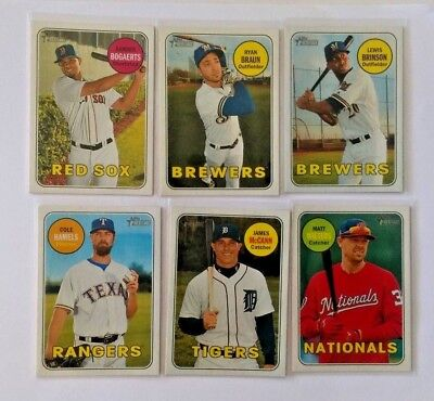 2018 Topps Heritage Sp Short Print Singles #401 To 500 Complete Your Set