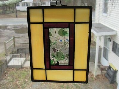 Real Hand Made Leaded Stained Glass Suncatcher/Panel